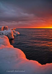 Sunset on Ice (Happyhiker4) Tags: blessed whatalife icyshores marklindsayphotography