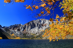 Fall at Convict Lake (Dave Toussaint (www.photographersnature.com)) Tags: california ca city travel autumn sky usa lake mountains fall nature water northerncalifornia rock photoshop canon landscape photo interestingness interesting october day skies photographer natural cs2 magic picture sierra hwy clear explore adobe frame nights geology 1001 easternsierras highway395 convictlake 2011 60d topazlabs topazadjust topazdenoise photographersnaturecom davetoussaint