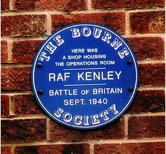 Photo of Operations Room RAF Kenley blue plaque