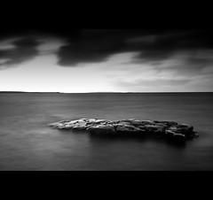Crocodile (Tourista de Mancunia) Tags: longexposure ireland seascape beach rocks minimal daytime spanishpoint countyclare smoothwater