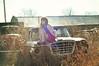 (yyellowbird) Tags: girl cari selfportrait vintage car truck studebaker abandoned junkyard illinois 1960studebakerchamp studebakerchampion studebakertruck