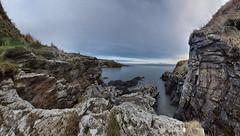 Newtonhill (PC104000) (Mel Stephens) Tags: uk panorama cliff seascape geotagged scotland aberdeenshire panoramic coastal gps scape stitched hdr ptgui cixpix aberdonia newtonhill