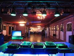 IMG_0840 (Dan Correia) Tags: lights lasers mirrorball nightclub bricks mixer turntables cdjs speakers laptop seratoscratch beatdownproductions 15fav topv111 topv333 topv555
