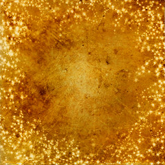 Sparkling stars (jinterwas) Tags: christmas texture yellow atc scrapbook stars gold golden grunge free dirty sparkle textures cc creativecommons layer layers geel sparkling grungy kerstmis goud sterren vuil stralen t4l freetouse goudkleurig