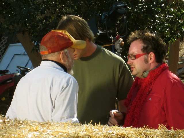 Clint Howard, Charlie OConnell, Paul Morrell, Director, #HUFFmovie , Production Stills