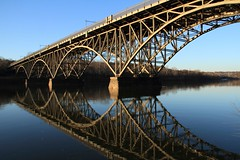 Strawberry Mansion Bridge (trek22 (on the road...)) Tags: park bridge philadelphia canon reflections river pennsylvania steel 7d fairmont gettyimages schuykill strawberrymansion trek22