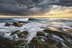 Winamar Reef (Lee Sie) Tags: ocean california sunset sea seascape water clouds coast marine rocks surf pacific sandiego reef oceanscape lajollatide