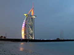 Multicolor Burj al Arab - Unusual (Sir Francis Canker Photography ) Tags: world trip travel blue panorama reflection tower art tourism monument skyline architecture night skyscraper island desert muslim islam dune uae middleeast landmark visit icon tourist best palm arabic emirates burjalarab nocturna desierto lightning arabian grattacielo thunder unitedarabemirates impressive gcc islamic jumeirah persiangulf duabi rascacielos wolkenkratzer lucena tallestbuilding emea gratteciel burjdubai        sirfranciscankerjones  7starshotel tz10 burjkhalifa zs7 pacocabezalopez