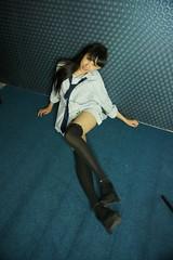 DSC01431 (rickytanghkg) Tags: portrait woman cute sexy lady female studio model pretty leg chinese young stocking