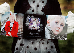 Merry Christmas from my family to yours. (Suzanne Pyle Photography) Tags: christmas winter boy baby girl children child dress christmascard railroadtracks december25 suzannepylephotography