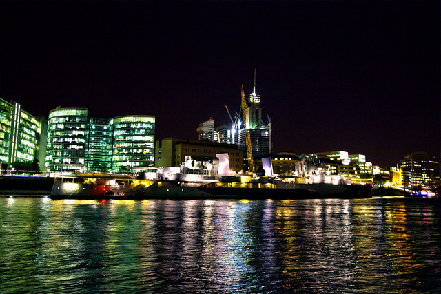 HMS Belfast Night HDR