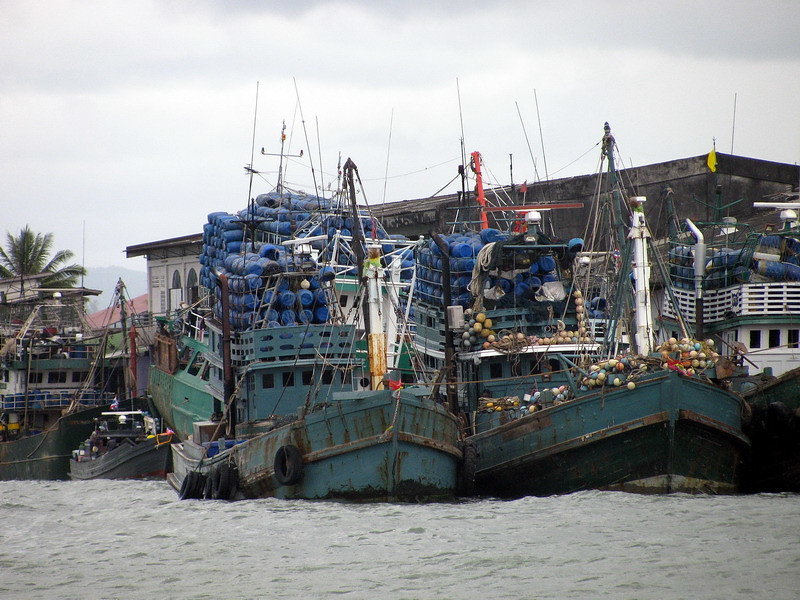 Thai fishing boats in Ranong