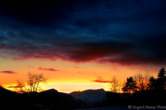 Contrasts (Usstan) Tags: sunset mountains norway clouds norge nikon fusion silhoutte hdr sunnmre rsta hovdebygda 1685mm d7000