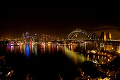 (VirtualWolf) Tags: longexposure events sydney australia places equipment newsouthwales techniques kirribilli canoneos7d newyearseve2011 canonef815mmf4lusmfisheye