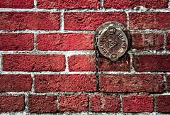 Old Drain & Brick (Orbmiser) Tags: winter red brick oregon portland nikon chain drain corrosion d90 55200vr