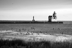 Kewaunee Lighthouse in B&W