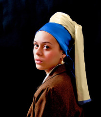 Photo Study 2: Girl with a Pearl Earring (DigitalLUX) Tags: blue portrait art girl beautiful dutch painting photography photo eyes nikon bravo faces florida miami retrato pic greeneyes master ojos redlips pearl vermeer thehague prettygirl masterpiece southflorida mauritshuis prettywoman rostros johannesvermeer girlwithapearlearring photographicstudy pearlearring dutchmaster seventeenthcentury obramaestra greeneyedlady dutchpainter abigfave portraitpose hetmeisjemetdeparel digitallux