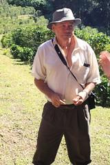 Victor describes his coffee farm.