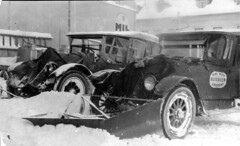 Forplog. Jan. 1926 (Riksarkivet (National Archives of Norway)) Tags: auto winter snow car vinter bil plog vei biri snowplow sn gjvik bryting rutebil brdreneveraasen
