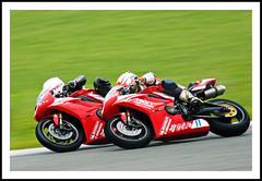 Racing at Silverstone (Fazer44) Tags: red green speed canon track wheels bikes racing silverstone superbikes eos50d