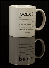 peace... (The M Factor) Tags: lighting reflection coffee canon studio paul peace einstein 7d mug buff day7 tamron commander cyber strobe 70200mm 640 strobist 73652011 peacecoffeemugstrobisteinstein640