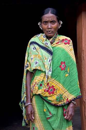 Woman of Desia Kondh tribe (Tattoo face)