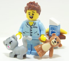 Good Morning (Silenced_pp7) Tags: bear morning friends cat toy milk lego teddy head good mini banana sleepy series minifig minifigs custom sleepyhead six vignette figs wiz min