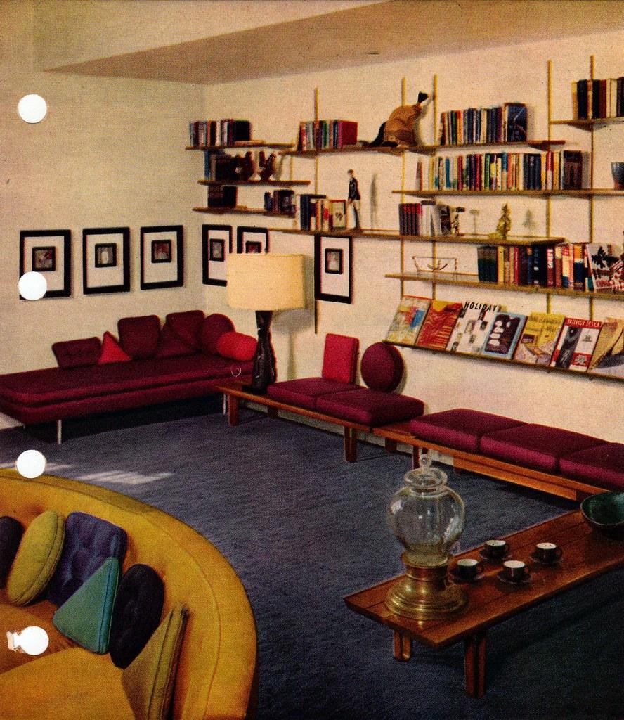 Living Room Furniture 50s Comfy Home Design