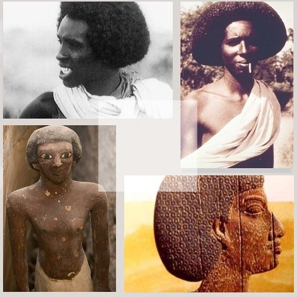 Somali Ancient-Egyptian Afro Hairstyle .
