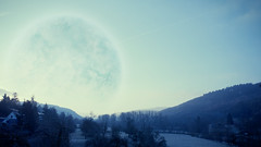 Planet Melancholia this morning (55Laney69) Tags: morning winter panorama nature photoshop sunrise germany deutschland apocalypse manipulation canon5d   trier melancholia canon1740f4l treves  larsvontrier ruwer     fakeplanet