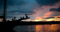 Fruit bats over Rinca (Komodo National Park) (Mike.Trent) Tags: ocean sunset beautiful night clouds indonesia evening ship diving goldenhour fruitbats komodonationalpark 35mmf2dnikkor d700