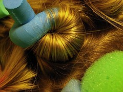 Hair Curling (Rubber Dragon) Tags: hair head curls curl curling hairdressing curlers