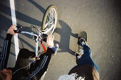 fat bottomed girls (¨K) Tags: me bike sofia skate expired kodakgold200 22mm superheadz wideslim olivesancam