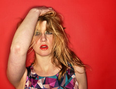 RED6 (PaulGibsonPhoto) Tags: colour girl fashion studio model glamour nikon pretty katy bright fast blonde handheld tamron banbury orbis brash