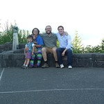With Evan Henshaw, Gabriela and family visiting Portland.