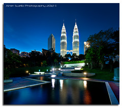 """Power of Blue"" :: Petronas Towers KLCC-VHDRI (alner_s) Tags: petronastowers tradershotel kualalumpurmalaysia"
