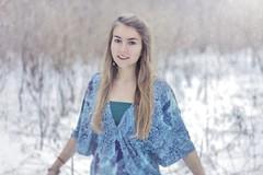 3 (Krzysztof Zbek) Tags: blue winter light portrait woman snow girl beauty face canon hair eos 50mm amazing eyes soft dof natural skin bokeh queen 7d f18 portret zima ef oczy cludy dziewczyna kobieta pochmurno