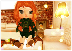 on the sofa (Caotica_Mai (MaY Coba) ♡ Slow Blog) Tags: pig tram mocha priss gizza sandshacksurfco mooltosistershunt