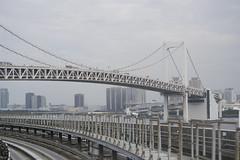 (quashlo) Tags: bridge tokyo metro  expressway rainbowbridge yurikamome ariake   rapidtransit agt    tokyoprefecture   minatoward automatedguidewaytransit  newtransit