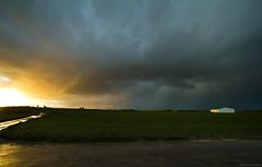 Rain & Sunset (Igor HOLLMAN) Tags: sunset sky cloud nature rain weather canon landscape pluie ciel thunderstorm normandie nuage paysage 1022mm meteorology couch mtorologie orageux
