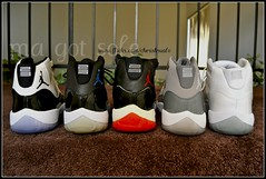 Air Jordan XI - Collection (Ma Got Sole) Tags: original 50mm nikon shoes ds 11 sneakers jordan og kicks 25thanniversary jumpman xi concords bred jordans deadstock jordan11 truered shoecollection shoehead jordanxi wdywt whatdidyouweartoday spacejams nikond3100 coolgreys magotsole