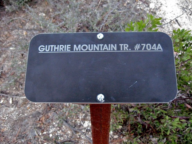 Guthrie Mountain trailhead