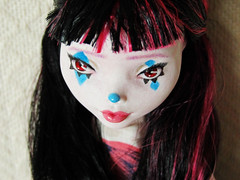 5 (2) (happy dolls) Tags: cute face make up monster high mod doll sweet clown adorable makeup kawaii bjd custom commission mattel bandwagon repaint faceup playline draculaura