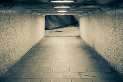 Warpspeed (Tim Whiting Sets) Tags: road park white black car tarmac sepia path space empty lonely desolate deserted