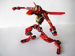 Motoblade Red (JaytheRobot) Tags: race lego space motor rollerblade mecha racer