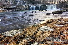 Morning at Cataract Falls (radarbrat photography) Tags: longexposure cliff sun water rock stone photoshop waterfall indiana falls le twig stick hdr goldenhour lightroom cataractfalls photomatix liebersra radarbrat