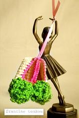 A sneak peak (FRANCINE TOUKOU) Tags: pink ballet baby green girl shower handmade crochet newborn booties balletslippers