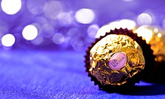 Ferrero Rocher (  | Malak abdullah) Tags: macro gold nikon purple candy sweet bokeh violet 90mm ferrero rocher d7000