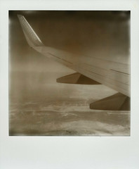 Air Travel (Nick Leonard) Tags: carnival vacation sky blackandwhite southwest film sepia analog plane airplane polaroid sx70 nick wing scan transportation carnivalcruise airtravel landcamera airplanewing polaroidsx70 px100 polaroidcamera instantfilm carnivalliberty epson4490 carnivalcruiselines testfilm polaroidsx70landcamera integralfilm nickleonard polaroidsx70model2 silvershade theimpossibleproject betafilm px100uv px100testfilm