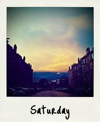 Saturday afternoon (duncanreddish) Tags: sky yellow clouds dark square polaroid gold scotland nokia edinburgh afternoon saturday 800 1x1 windowsphone lumia apict